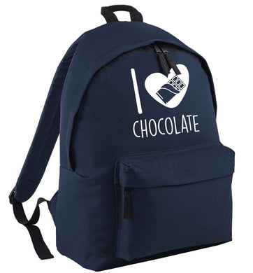 funny gift for a chocaholic! I love chocolate | Children's backpack