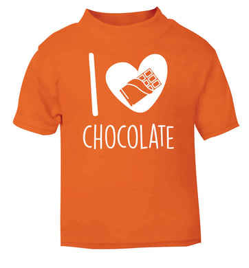 funny gift for a chocaholic! I love chocolate orange baby toddler Tshirt 2 Years
