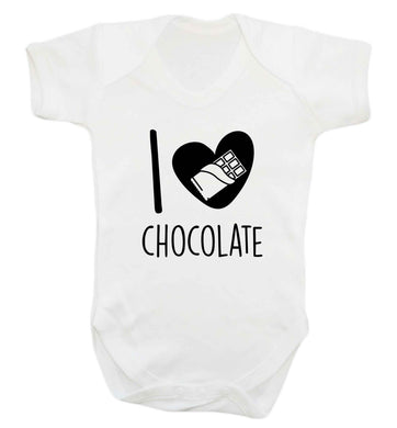 funny gift for a chocaholic! I love chocolate baby vest white 18-24 months