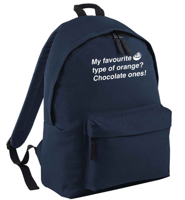 funny gift for a chocaholic! My favourite kind of oranges? Chocolate ones! | Children's backpack