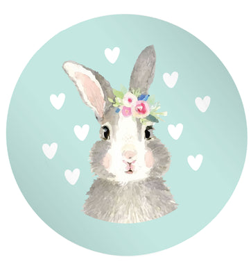 Gorgeous watercolour print for any bunny lover! Perfect for Easter and spring!  Watercolour bunny rabbit 24 @ 45mm matt circle stickers