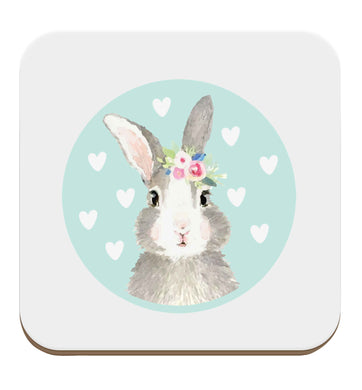 Gorgeous watercolour print for any bunny lover! Perfect for Easter and spring!  Watercolour bunny rabbit set of four coasters