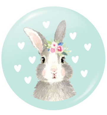 Gorgeous watercolour print for any bunny lover! Perfect for Easter and spring!  Watercolour bunny rabbit small 25mm Pin badge