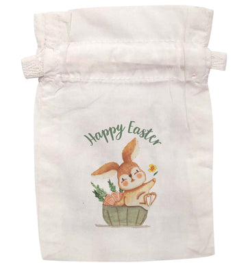 Happy Easter watercolour | XS - L | Pouch / Drawstring bag / Sack | Organic Cotton | Bulk discounts available!