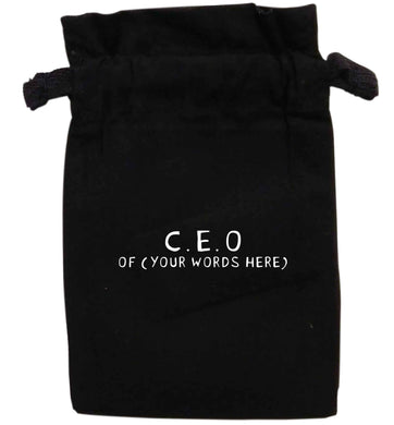 Personalised CEO of... | XS - L | Pouch / Drawstring bag / Sack | Organic Cotton | Bulk discounts available!