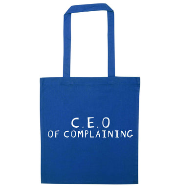 Excuse me can I talk to your manager? Know someone who just loves to complain? We think we might have the perfect gift for you!  blue tote bag