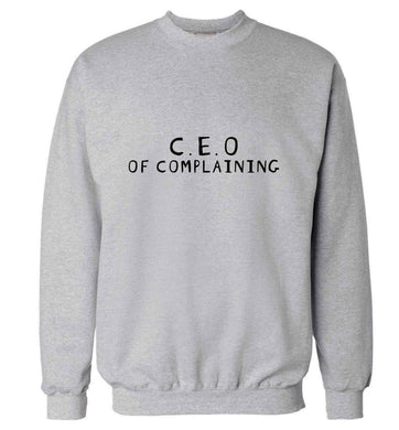 Excuse me can I talk to your manager? Know someone who just loves to complain? We think we might have the perfect gift for you!  adult's unisex grey sweater 2XL