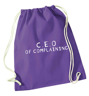 Excuse me can I talk to your manager? Know someone who just loves to complain? We think we might have the perfect gift for you!  purple drawstring bag