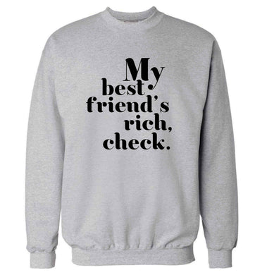 Got a rich best friend? Why not ask them to get you this, just let us  know and we'll tripple the price ;)  adult's unisex grey sweater 2XL
