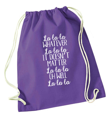 Viral song lyrics - check! Gen z babies where you at? purple drawstring bag