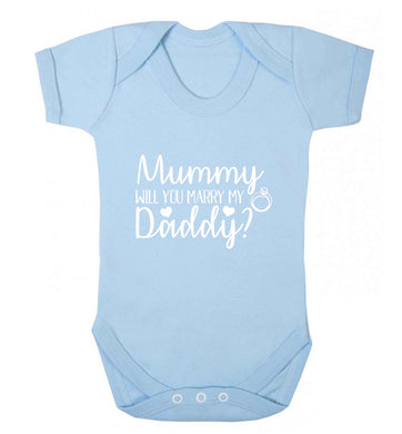 Looking for a unique way to pop the question? Why not let your kids do it!  baby vest pale blue 18-24 months
