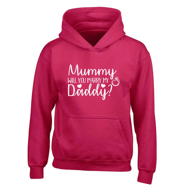 Looking for a unique way to pop the question? Why not let your kids do it!  children's pink hoodie 12-13 Years