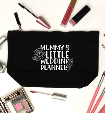 adorable wedding themed gifts for your mini wedding planner! black makeup bag