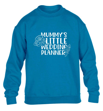 adorable wedding themed gifts for your mini wedding planner! children's blue sweater 12-13 Years