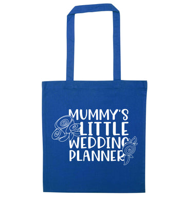 adorable wedding themed gifts for your mini wedding planner! blue tote bag