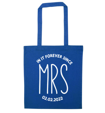 Funny matching gifts for him and her! Get matchy matchy, ideal for newlywed couples or a little valentines gift! blue tote bag