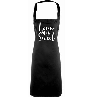 Love really does make the world go round! Ideal for weddings, valentines or just simply to show someone you love them!  adults black apron