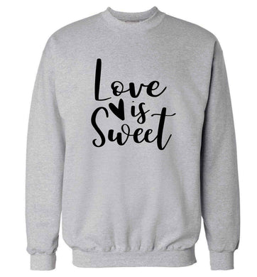 Love really does make the world go round! Ideal for weddings, valentines or just simply to show someone you love them!  adult's unisex grey sweater 2XL