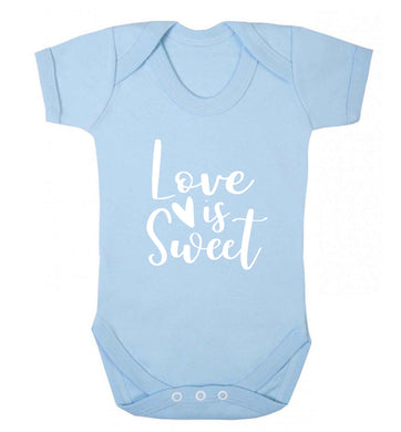 Love really does make the world go round! Ideal for weddings, valentines or just simply to show someone you love them!  baby vest pale blue 18-24 months