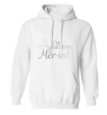 Personalised wedding thank you's Mr and Mrs wedding and date! Ideal wedding favours! adults unisex white hoodie 2XL