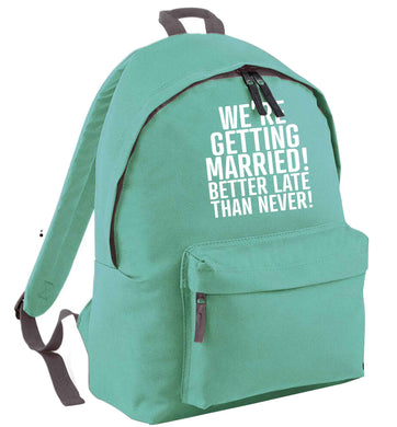 Always the bridesmaid but never the bride? Until now! mint adults backpack