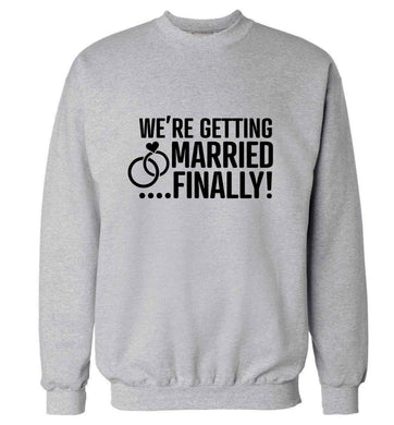 It's been a long wait but it's finally happening! Let everyone know you're celebrating your big day soon! adult's unisex grey sweater 2XL