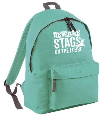 Beware stags on the loose mint adults backpack