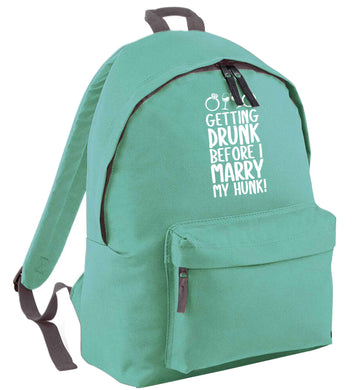 Getting drunk before I marry my hunk mint adults backpack
