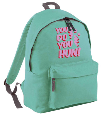 You do you hun mint adults backpack