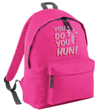 You do you hun pink adults backpack