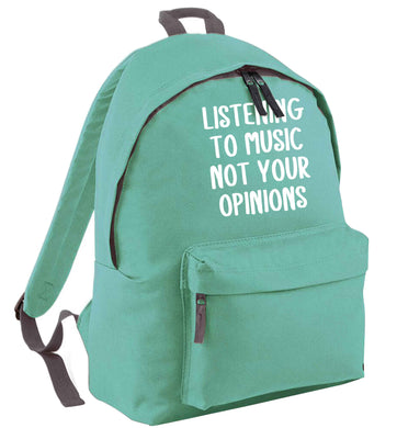 Listening to music not your opinions mint adults backpack