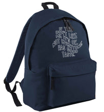 If you don't like me it's ok not everyone has good taste navy adults backpack