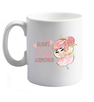 10 oz Personalised fairy Godmother - red hair  ceramic mug right handed