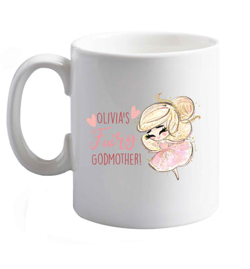 10 oz Personalised fairy Godmother - blonde hair  ceramic mug right handed