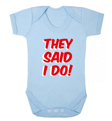 They said I do baby vest pale blue 18-24 months