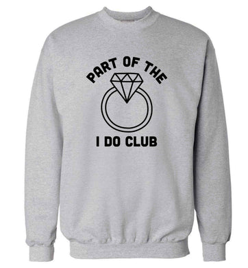 Part of the I do club adult's unisex grey sweater 2XL