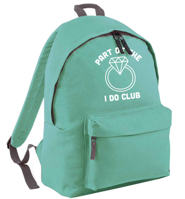 Part of the I do club mint adults backpack