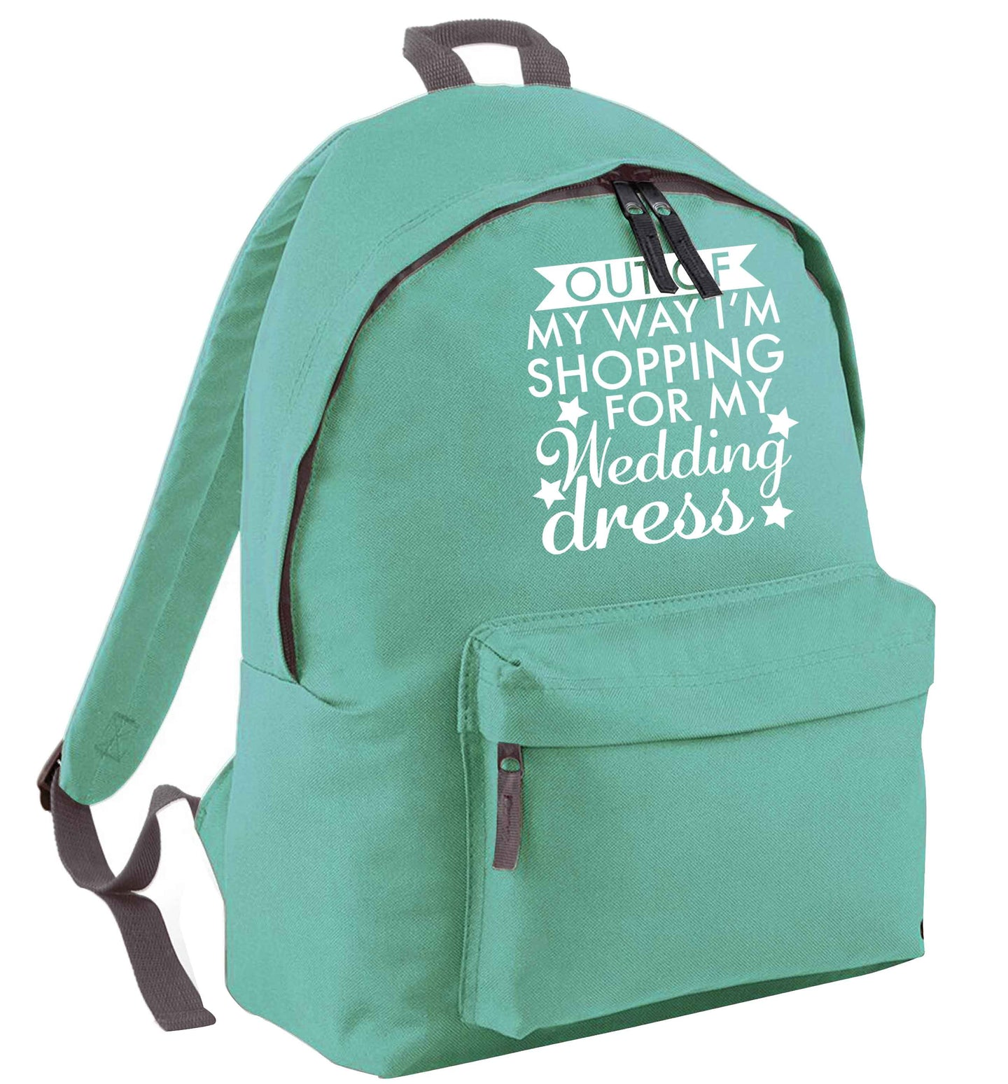 Out of my way I'm shopping for my wedding dress mint adults backpack