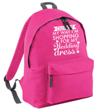 Out of my way I'm shopping for my wedding dress pink adults backpack