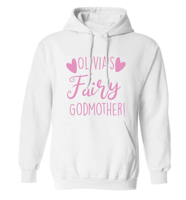 Personalised fairy Godmother adults unisex white hoodie 2XL