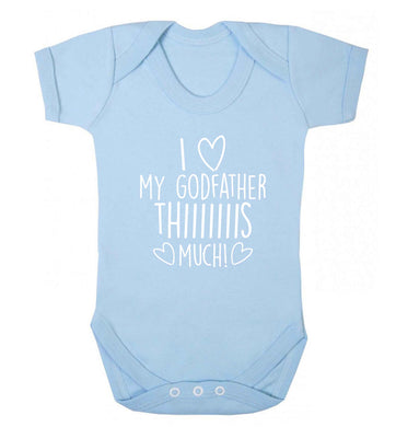 I love my Godfather this much baby vest pale blue 18-24 months