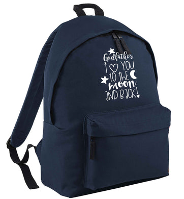 Godfather I love you to the moon and back | Children's backpack