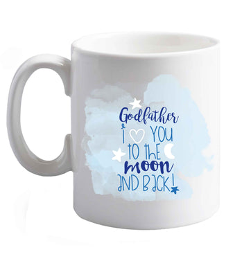 10 oz Godfather I love you to the moon and back  ceramic mug right handed