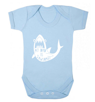My Dad is jawsome baby vest pale blue 18-24 months