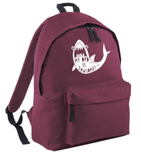 My Dad is jawsome maroon adults backpack