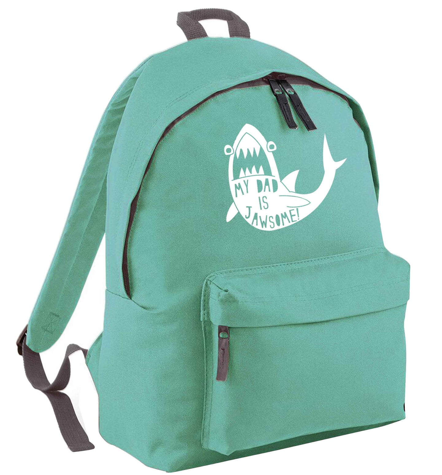 My Dad is jawsome mint adults backpack