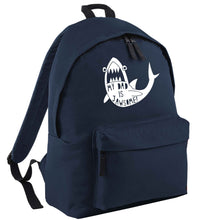 My Dad is jawsome navy adults backpack