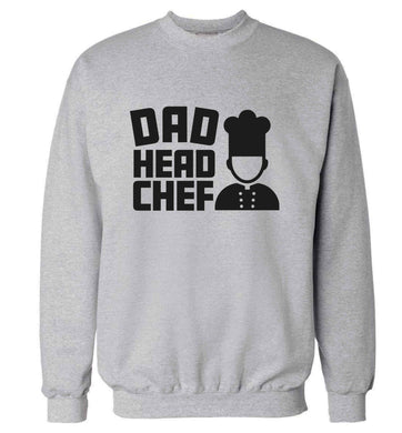 Dad head chef adult's unisex grey sweater 2XL