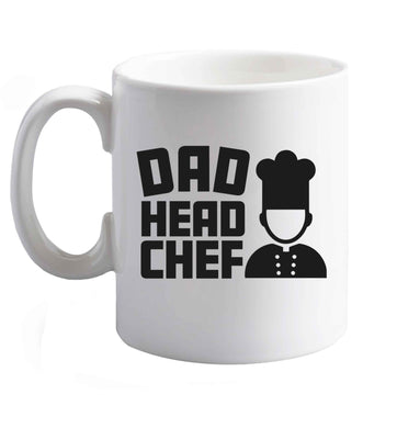 10 oz Dad head chef ceramic mug right handed