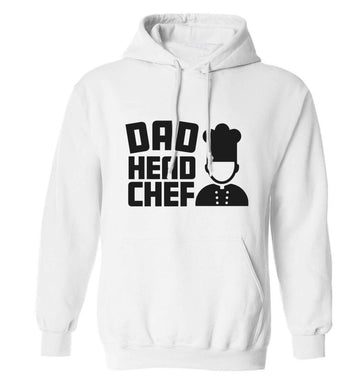Dad head chef adults unisex white hoodie 2XL
